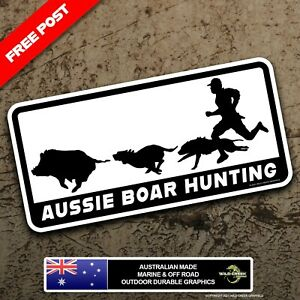 Aussie Boar Hunting Sticker Pig Hunting Decal Dog Hunting Bumper Sticker
