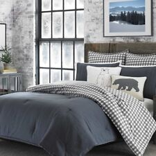 100% Cotton 3 Piece Reversible Comforter Set Top-Stitch Detail King Size