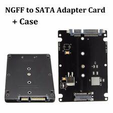 B+M Llave Enchufe 2 M.2 NGFF (SATA) SSD A 2.5'' SATA Adapter Adaptador Tarjeta