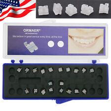 USA 20 Pcs ORMAER Dental Orthodontic Ceramic Braces Brackets Roth 022 345 Hooks