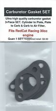 RedCat Racing 30cc Intake Gasket 3 PC SET-Cyl-Plate, Plate-Carb-Carb-Filter-NIP