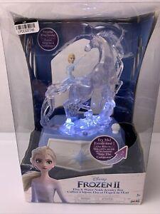 New!! Disney Frozen Frozen 2 Elsa and Water Nokk Jewelry Box Lights & Plays Song