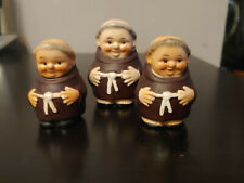 Lot of 3 Goebel Monk Salt and Pepper Shakers West Germany