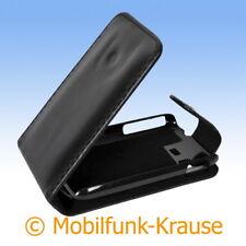 Flip Case Etui Handytasche Tasche Hülle f. Samsung Galaxy Pocket (Schwarz)