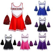 Cheerleader Uniform Kostüm Uniform Cheerleading Cheer Leader 6 Farben Girl