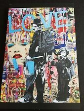 MR BRAINWASH LA Art Show Love Charlie Chaplin Rare Event Promo Card NEVER SOLD