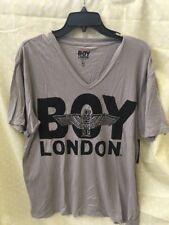 BOY London v nick sz xl  NEW Mens T-shirt light  gray