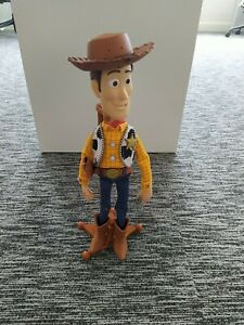 Toy Story Talking Pull String Woody Thinkway Toys with Stand Very Well Cared For
