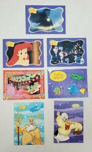 "1997 Disney Upper Deck ""The Little Mermaid"" Trading Card Sticker/Stick-Ums Lot/6"