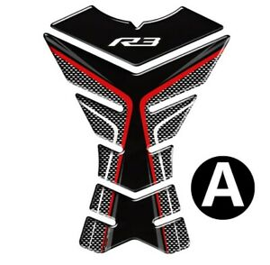 For Yamaha R3 YZF-R3 Motorcycle 3D Tank Pad Tank Protector Stickers Decals