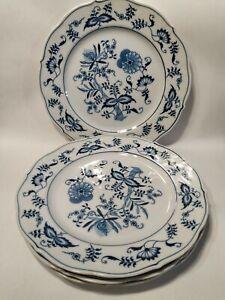 """Set of 4 Blue Danube Onion Pattern Dinner Plate 10.25"""" Rectangle Mark Japan"""