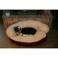 Soft Round Pet Bed Large Dog Cat Plush Removable Cover Machine Washable Pillow