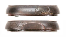 Antique Japanese Fuchi Aikuchi Dagger Man Sword Fitting Tsuka Handle Tonto Old