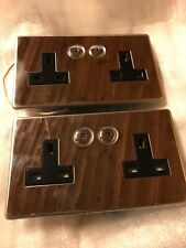 HOME EASY DOUBLE REMOTE CONTROL SOCKET HE109 2 GANG Set Of 2