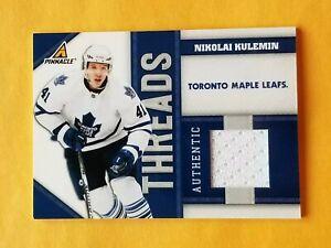 2011-12 Pinnacle Threads Jersey #NK Nikolai Kulemin #/499 Toronto Maple Leafs