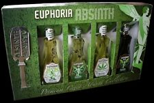 Absinth - Euphoria Mini Collection 4 x 0,05L + Absinthlöffel & Zuckerwürfel