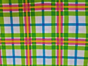 1 Yrd Spring Industries Spring Living Daisy Coordinate #7285 Fabric Bright Plaid