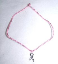 SIX DOZEN (72) Pink RIbbon Metal Ribbon Charm Necklace - Breast Cancer