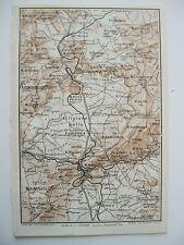 stampa antica mappa MACOMER POZZOMAGGIORE BONORVA GIAVE SINDIA BORORE  1929