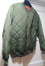 GAP FLIGHT STYLE ARMY GREEN KHAKI KIDS CHILD NYLON QUILTED JACKET SIZE XL (12)