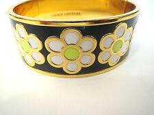 Juicy Couture Gold Enamel Daisy Flower Bangle Bracelet - YJRU7660 - MSRP $68