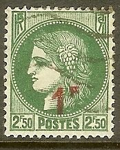 """FRANCE TIMBRE STAMP N°488 """" CERES 1F SUR 2F50 """" OBLITERE TB"""