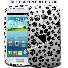 PAWS PRINT FOOTPRINT SILICONE/GEL CASE COVER FOR SAMSUNG I8190 GALAXY S3 MINI
