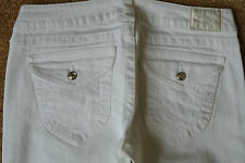 TRUE RELIGION DISCO JOEY  Jeans 32X33 NWOT$300 Sexy White Wash Swarovski! USA