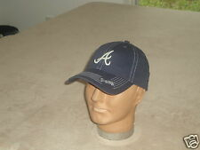 Atlanta Braves Unstructured Blue Stitched Baseball Hat MLB Adult One Size NEW