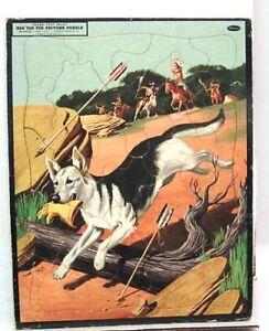 1956 RIN TIN TIN Whitman Frame-Tray Puzzle (K1275)