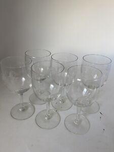 Lot Of (6) Vintage PRINCESS HOUSE Heritage Stemware WINE GLASSES Preowned