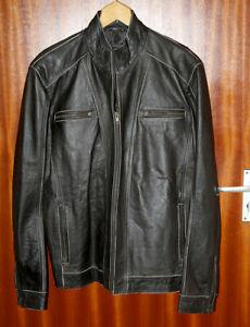 Superior Leather Garments Black Biker Lined Jacket Genuine Cow Hide Size 2XL