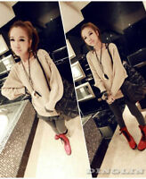 Autumn Women Pearl Knitted Pullover Top Shirts Jacket Coat Sweater Blouse Jumper