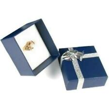 Ring Gift Box Jewelry Displays Bow Tie Blue