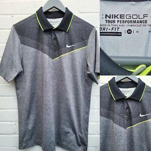 Nike Golf DRI-FIT Polo T shirt Grey Mens Size Medium M Tour Performance