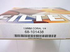 NEW SCHNEIDER 138mm CORAL 1/4 ROUND GLASS FILTER # 68-101438
