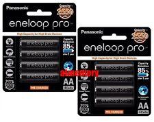 8pcs Panasonic Eneloop Pro 2550mAh AA Precharge NiMH Rechargeable Battery Sanyo