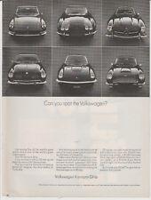 Vtg 1969 Volkswagen Karmann Ghia print magazine advertisement w prices Full page