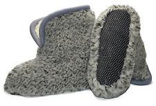 Hausschuhe Hüttenschuhe Lammfell 100% Schafwolle Schaffell Pantoffeln 35-48 grau