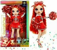 Rainbow High RUBY ANDERSON Cheerleader DOLL Red Uniform Pom Poms CHEER SQUAD New