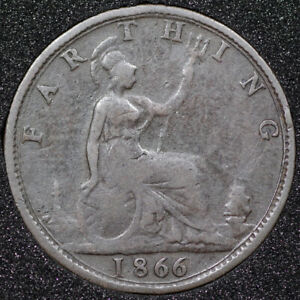 1866 Victoria Farthing  Ref 170