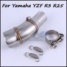 Motorcycle Exhaust system Middle link pipe Connecting pipe For Yamaha YZF R3 R25