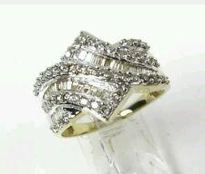 Estate 10k Yellow Gold 1.25ctw Natural Diamond Cluster Ladies Ring 4.9g