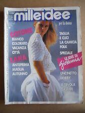 MILLEIDEE n°8 1988 - rivista di moda e lavori femminili  [G582]