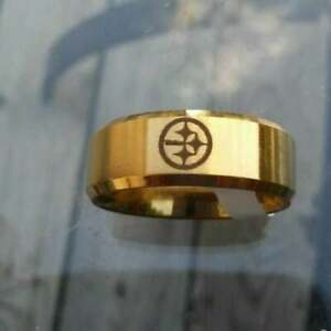 Pittsburgh Steelers Titanium Ring, style #3, sizes 7-13