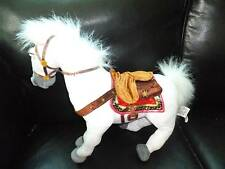 "Disney Store Maximus white ""Tangled"" horse steed plush toy 14"" tall"