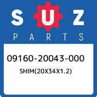 09160-20043-000 Suzuki Shim(20x34x1.2) 0916020043000, New Genuine OEM Part