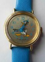 1984 Bradley Disney Donald Duck Commemorative Birthday Watch NOS RUNS Lot# G187
