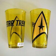 Star Trek Foil Logo Pint Glass Holds 16 oz. by Just Funky