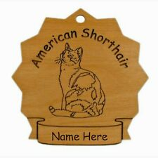 American Shorthair Sitting Cat Ornament Personalized With Your Cat's Name 7039